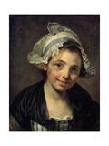 Girl in a Bonnet, 1760S Giclee Print by Jean-Baptiste Greuze