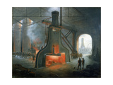 James Nasmyth's Steam Hammer Erected in His Foundry Near Manchester in 1832 Giclee Print by James Nasmyth
