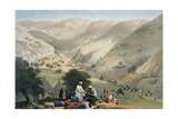 Encampment of the 1st Bengal European Regiment, First Anglo-Afghan War 1838-1842 Giclee Print by James Atkinson
