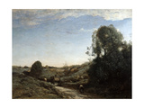The Horsecart, Memory of Marcoussis Near Montlhery, 1855 Giclee Print by Jean-Baptiste-Camille Corot