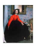 Portrait of Mlle L L, (Young Lady in a Red Jacke), 1864 Giclee Print by James Jacques Joseph Tissot
