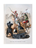Ibrahim Pasha Fighting the Wahabis, Saudi Arabia, 1811-1818 Giclee Print by Jean Adolphe Beauce