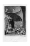 Synagogue of the Jews, Jerusalem, Israel, 1841 Giclee Print by J Redaway