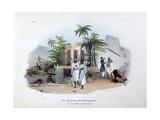 Porteurs De Palanquins, 1828 Giclee Print by Jean Henri Marlet