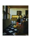 Jan Vermeer - Lady at a Virginal, C1652-1675 Digitálně vytištěná reprodukce