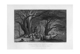 Ancient Cedars in the Forest of Lebanon, 1841 Giclee Print by J Redaway