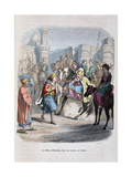 The Mother of Ibrahim Pasha Enters Cairo Giclee Print by Jean Adolphe Beauce