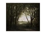 Scene Near a Lake, 1860-1873 Giclee Print by Jean-Baptiste-Camille Corot