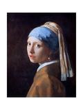Jan Vermeer - Girl with a Pearl Earring, C1665 Digitálně vytištěná reprodukce