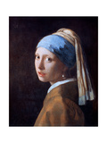 Girl with a Pearl Earring, C1665 Giclée-Druck von Jan Vermeer