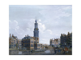 View of the Mint Tower at Amsterdam, 1777 Giclee Print by Isaak Ouwater