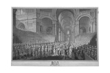 Service of Thanksgiving in St Paul's Cathedral, City of London, 1789 Giclee Print by James Neagle