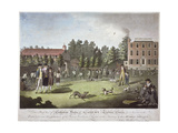 Back View of Salvadore House Academy, Tooting, Wandsworth, London, 1787 Giclee Print by James Walker