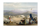 British Army Camp at Dadur at the Entrance to the Bolan Pass, First Anglo-Afghan War, 1838-1842 Giclee Print by James Atkinson