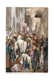 Woman with Issue of Blood Touching the Border of Jesus' Garment and Being Healed, C1890 Giclee Print by James Jacques Joseph Tissot