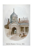 Gateway to the Old British Museum (Montague Hous), Bloomsbury, London, 1850 Giclee Print by James Findlay