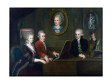 The Mozart Family, 1780-1781 Giclee Print by Johann Nepomuk della Croce