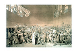 Tennis Court Oath, June 20 1789, Paris Giclee Print by Jacques-Louis David