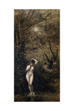 Diana Bathing, 1873-1874 Giclee Print by Jean-Baptiste-Camille Corot