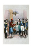 Meeting Between Ibrahim Pacha and Colonel Faudoa, Egypt, 1828 Giclee Print by Jean Adolphe Beauce