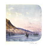 View of Hong Kong, 7 December 1865 Giclee Print by Jean Henri Zuber