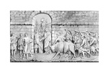 The Great Sacrifice of the Romans on Undertaking a War Giclee Print by James Gardner