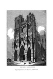 West Front of Amiens Cathedral, 1843 Giclee Print by J Jackson