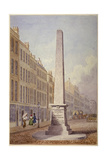 Monument at the Junction of Farringdon Street and Fleet Street, City of London, 1833 Giclee Print by James Elmes