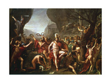 Leonidas at Thermopylae, 5th Century BC Giclée-tryk af Jacques-Louis David