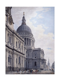 South Side of St Paul's Cathedral, London, 1765 Giclee Print by James Malton