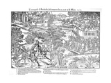 Amboise Enterprise or Conspiracy, French Religious Wars, March 1560 Giclee Print by Jacques Tortorel