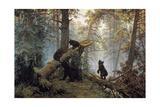 Morning in a Pinewood, 1889 Giclee Print by Ivan Shishkin