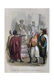 Oath of the Commanders of the Army to Die for the Cause of Mehmet Ali, Egypt, 1805 Giclee Print by Jean Adolphe Beauce
