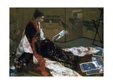 Caprice in Purple and Gold, the Golden Screen, 1864 Giclee Print by James Abbott McNeill Whistler