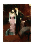 Leaving a Masquerade Ball at the Paris Opera, Late 19th or Early 20th Century Lámina giclée por Jean Louis Forain