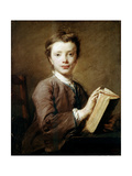 A Boy with a Book, C1740 Giclee Print by Jean-Baptiste Perronneau