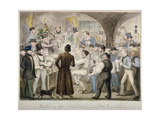 The Evening after a Mock Election in the Fleet Prison, June 1835 Giclee Print by Isaac Robert Cruikshank