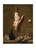 Still Life with a Leg of Veal, French Painting of 18th Century Giclee Print by Jean-Baptiste Oudry