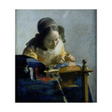 The Lace Maker, C1664 Giclee Print by Jan Vermeer