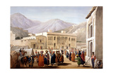 Shah Shoja, Puppet of the British, Holding a Durbar at Kabul, First Anglo-Afghan War, 1838-1842 Giclee Print by James Atkinson