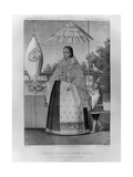 Inca Princess, National Costume, 1852 Giclee Print by Jacques Francois Gauderique Llanta