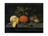 Fruits on a Table Setting of Stone, C1653-1659 Giclee Print by Johannes Borman