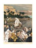 Jesus Teaching on the Sea Shore, C1890 Giclee Print by James Jacques Joseph Tissot