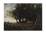 The Wood Gatherers, 1875 Giclee Print by Jean-Baptiste-Camille Corot