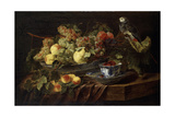 Still Life with Fruit and Parrot, 1645 Giclee Print by Jan Fyt