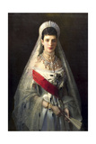Portrait of Empress Maria Feodorovna, Princess Dagmar of Denmark, (1847-192) Giclee Print by Ivan Kramskoy