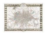 Map of London, 1851 Giclée-tryk af J Rapkin