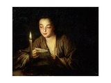 Girl with a Candle, Late 17th or Early 18th Century Giclee Print by Jean-Baptiste Santerre