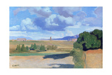 The Roman Campagna, with the Claudian Aqueduct, C1826 Giclee Print by Jean-Baptiste-Camille Corot