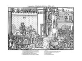 Execution of Conspirators at Amboise, French Religious Wars, March 1560 Giclee Print by Jacques Tortorel